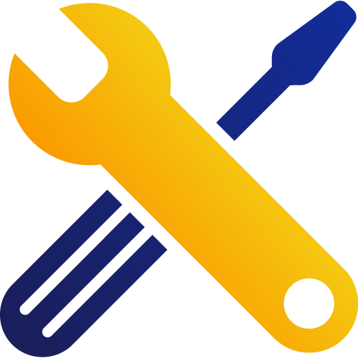 An illustration of a wrench and screwdriver crossed on top of each other.